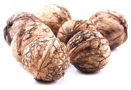 Walnuts on white background  photo