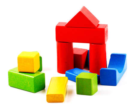 Wooden building blocks Stock Photo - 8222857