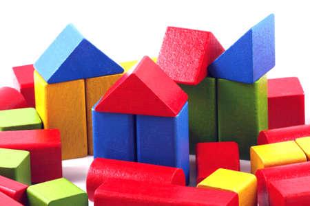 Wooden building blocks photo