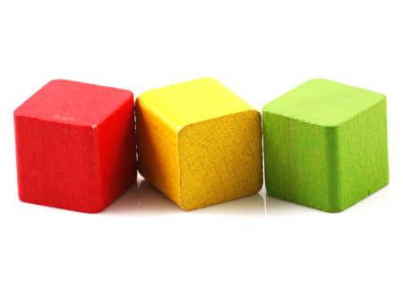 bloques: Bloques de construcci�n de madera Foto de archivo