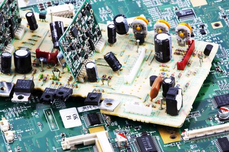 Image of computer hardware & components Stock Photo - 8223464