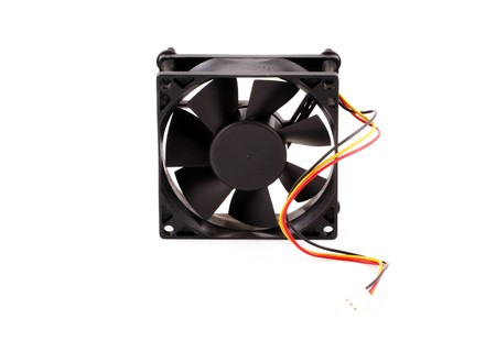 The computer fan isolated on white background photo