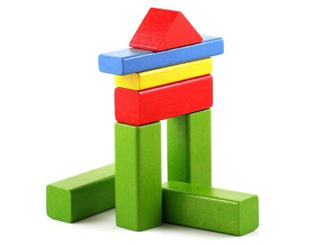 Wooden building blocks photo