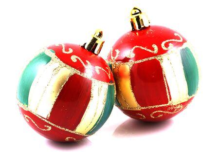 decs: Christmas decoration on white background