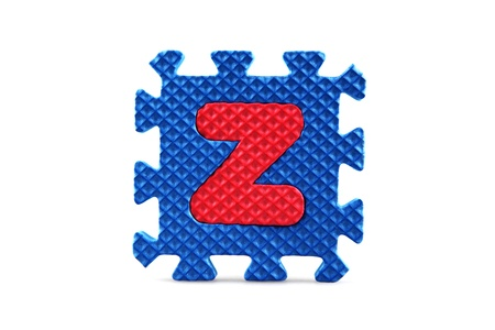 Alphabet puzzle pieces on white background Stock Photo - 8516563
