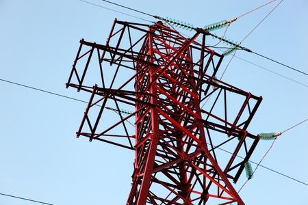 High voltage power pole Stock Photo - 8563202