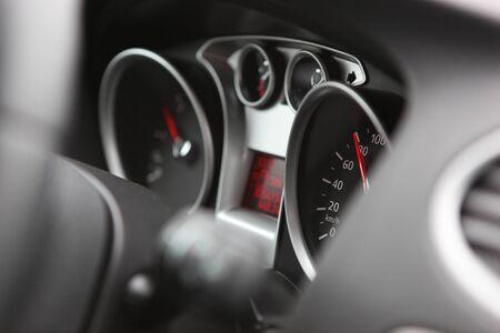 Close up of car dashboard photo