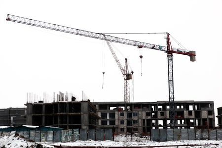 tower crane: construction site