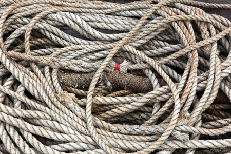 Rope of a ship photo