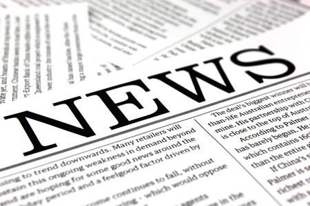 news paper: top news Stock Photo
