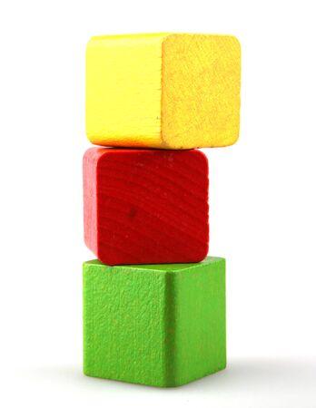 infancy: Wooden building blocks Stock Photo