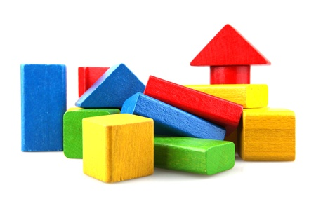 jouet: Blocs de construction en bois