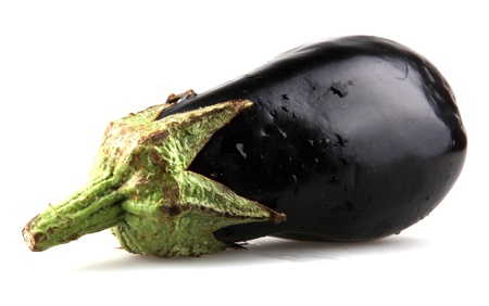 Eggplant on a white background photo