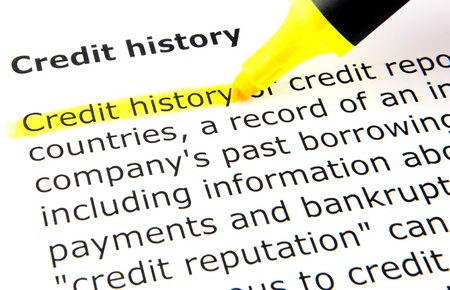 Credit history Stock Photo - 10393571