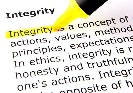 integridad: Integridad Foto de archivo