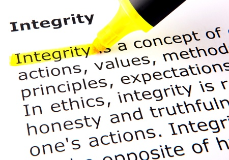 the sincerity: Integrity Stock Photo