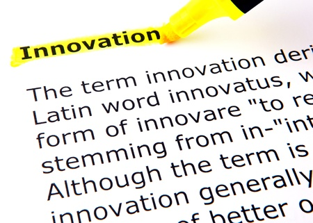 definition define: Innovation Stock Photo