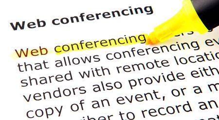 conferencing: Web conferencing Stock Photo