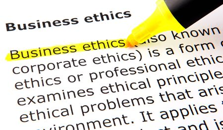 Business ethics Stock Photo - 10393579