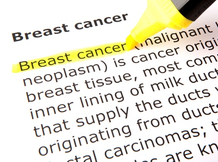 skin cancer: Breast cancer Stock Photo