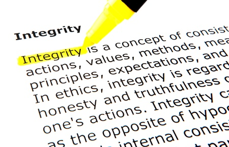 uprightness: Integrity Stock Photo