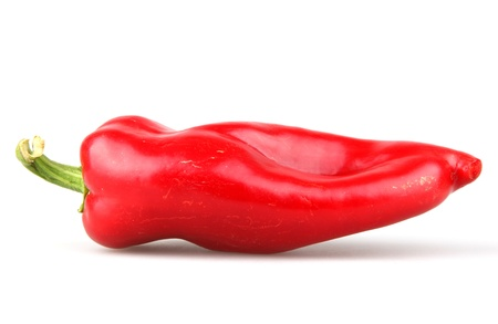 Red chilli peppers on white background photo