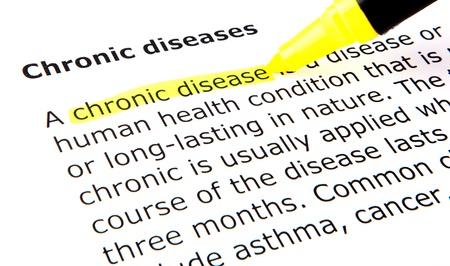 disease prevention: Enfermedades cr�nicas Foto de archivo