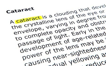 detachment: Cataract