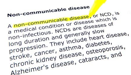 communicable: non-communicable disease Stock Photo