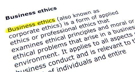 Business ethics photo