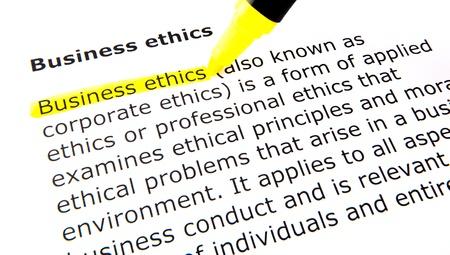 etica empresarial: �tica en los negocios Foto de archivo