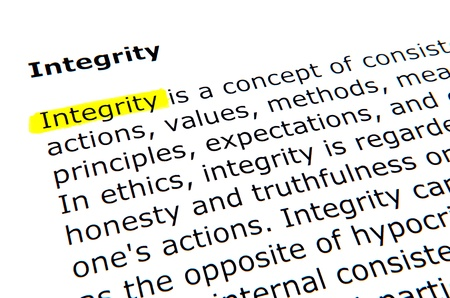 Integrity Stock Photo