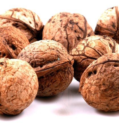 Walnuts in closeup photo