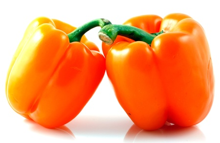 Peppers on white background photo