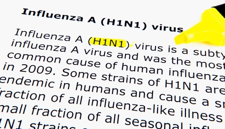 Images of the H1N1 Influenza Virus Stock Photo - 11495183