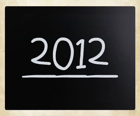 2012 on class chalkboard  photo