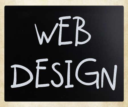 Web Design handwritten with white chalk on a blackboard photo