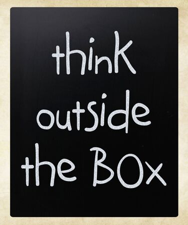 Think outside the box - concept Stock Photo - 12575917