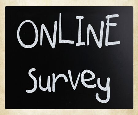 online survey  handwritten with white chalk on a blackboard photo