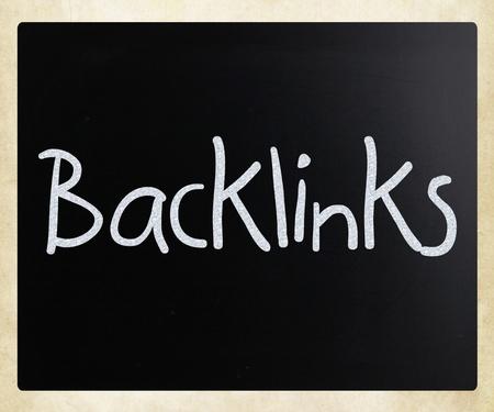 Backlinks handwritten with white chalk on a blackboard