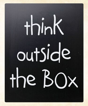 Think outside the box - concept. photo