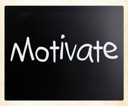 Motivate handwritten with white chalk on a blackboard photo