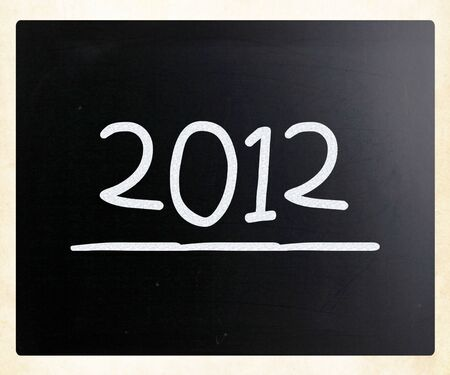 2012 on class chalkboard Stock Photo - 13124559