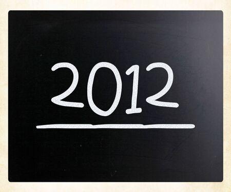 2012 on class chalkboard photo