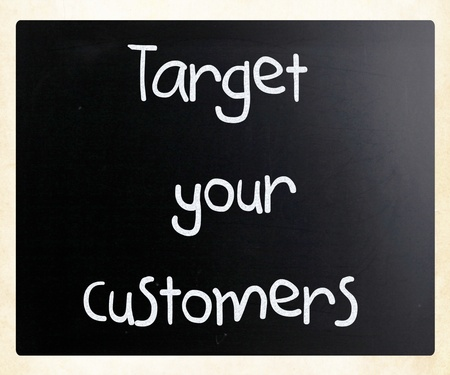 Target your customers Stock Photo - 13124545