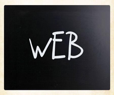 'WEB' handwritten with white chalk on a blackboard photo