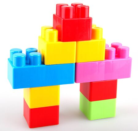 Plastic building blocks photo