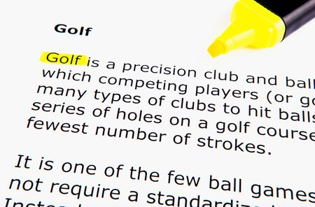 Text highlighted in yellow with felt tip pen Stock Photo - 13276828