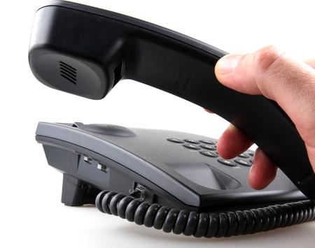 Telephone isolated on white. photo