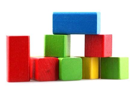 wooden blocks: Wooden building blocks.